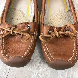1f725959bc4 Keen Shoes | Catalina Brown Leather Boat Shoe Sz 75 | Poshmark